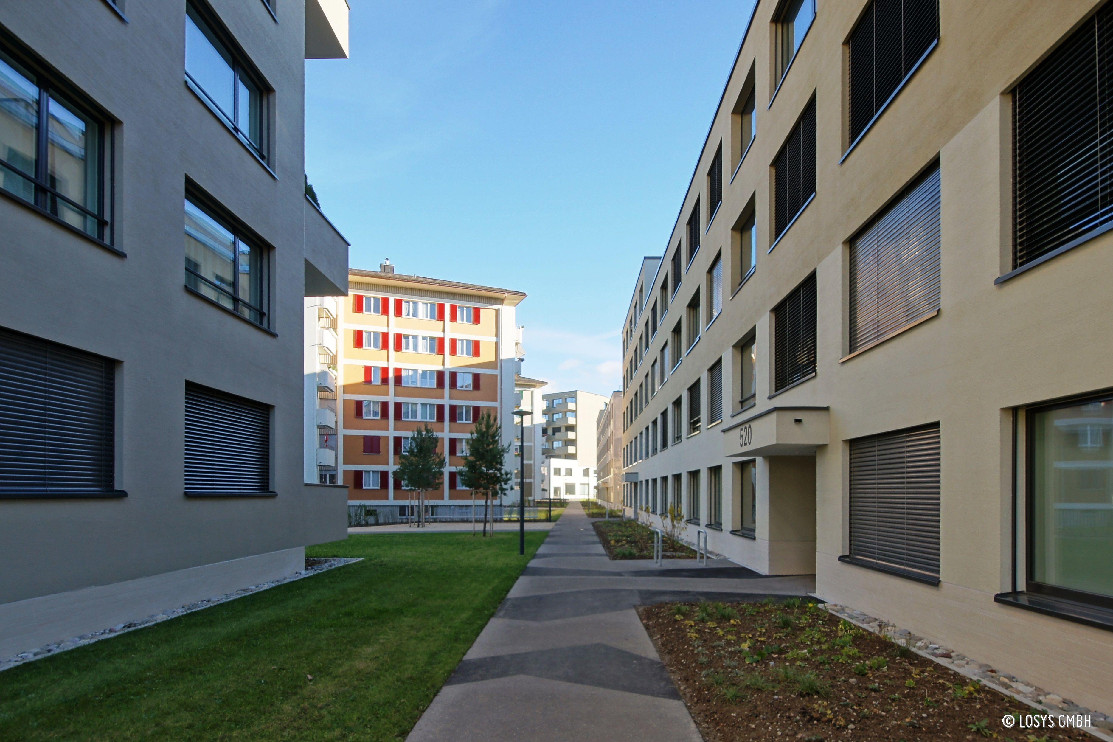 Wohn- und Gewerbeüberbauung Luegisland Süd